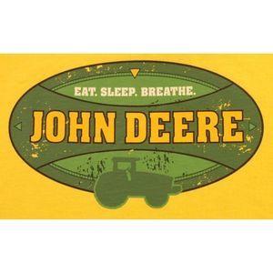 John Deere Shirts & Tops - John Deere Yellow Tee Eat Sleep Breathe 14-16 NWT